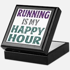 Running Is My Happy Hour Keepsake Box