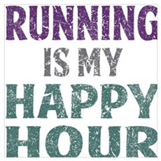 Running Is My Happy Hour Framed Print