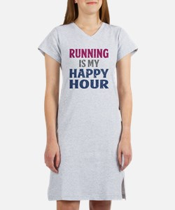 Running Is My Happy Hour Women's Nightshirt