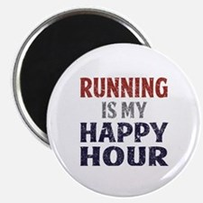 Running Is My Happy Hour Magnet