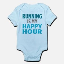 Running Is My Happy Hour Body Suit