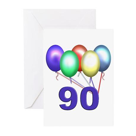 90th Birthday Party Invitations (Pk of 10)