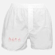 Red ASL FROG Boxer Shorts
