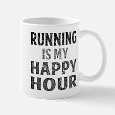 Running Is My Happy Hour Mugs