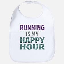 Running Is My Happy Hour Bib