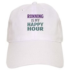 Running Is My Happy Hour Baseball Baseball Cap