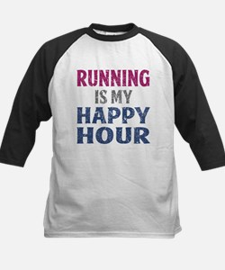 Running Is My Happy Hour Baseball Jersey