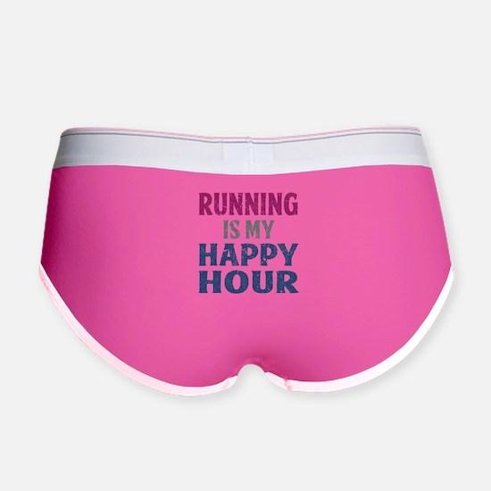 Running Is My Happy Hour Women's Boy Brief
