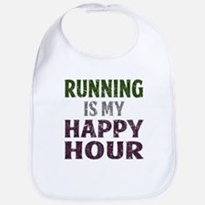 Running Is My Happy Hour Bib