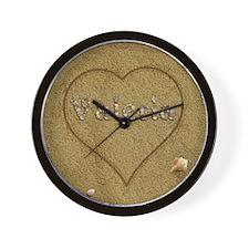 Valeria Beach Love Wall Clock