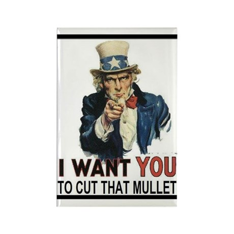 Anti Mullet Rectangle Magnet (10 pack)
