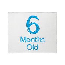 6 Months Old Baby Milestones Throw Blanket