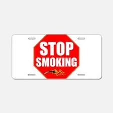 Stop Smoking Aluminum License Plate