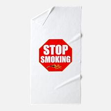 Stop Smoking Beach Towel