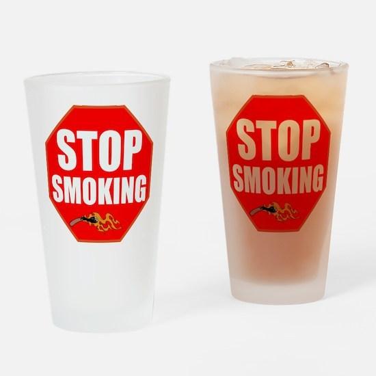 Stop Smoking Drinking Glass