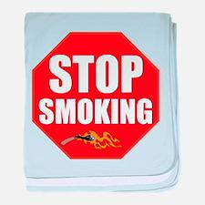 Stop Smoking baby blanket