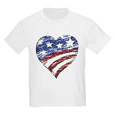 Distressed American Flag Heart T-Shirt