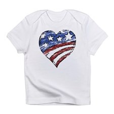 Distressed American Flag Heart Infant T-Shirt