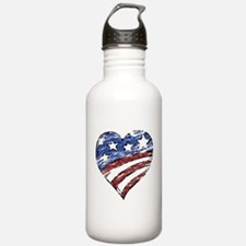 Distressed American Fl Water Bottle
