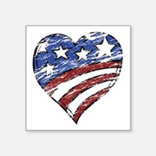 Distressed American Flag He Sticker