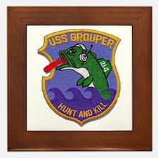 USS GROUPER Framed Tile