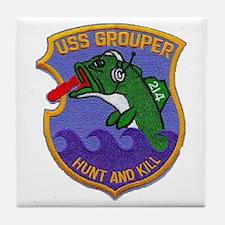 USS GROUPER Tile Coaster