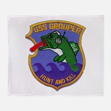 USS GROUPER Throw Blanket