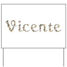 Vicente Seashells Yard Sign