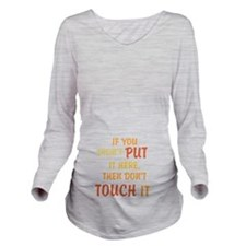 Here Long Sleeve Maternity T-Shirt