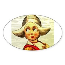 Dutch Girl Painted On Wood Decal