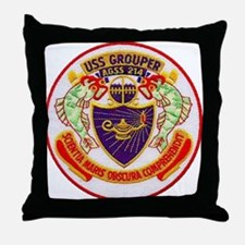 USS GROUPER Throw Pillow