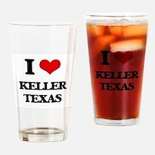 I love Keller Texas Drinking Glass