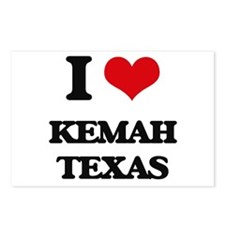 I love Kemah Texas Postcards (Package of 8)
