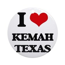 I love Kemah Texas Ornament (Round)