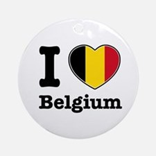 I love Belgium Ornament (Round)