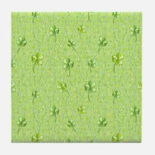 Simple Shamrocks Tile Coaster