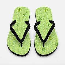 Simple Shamrocks Flip Flops