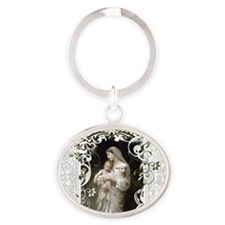 Cute Catholic Oval Keychain