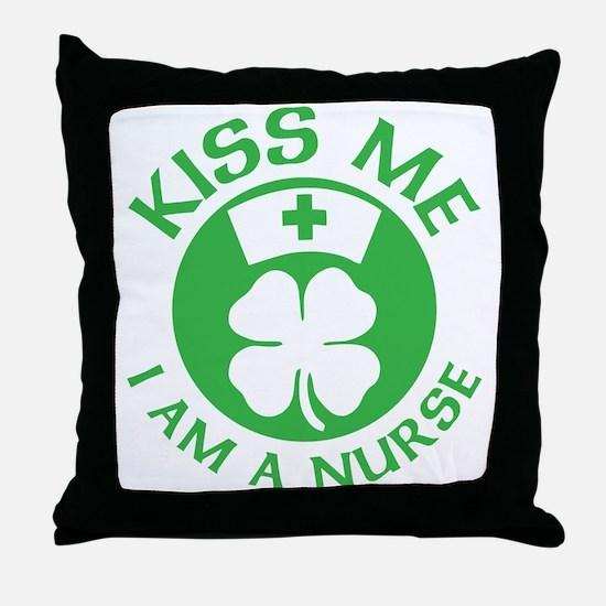Kiss Me I Am A Nurse St Patricks Day Design Throw