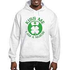 Kiss Me I Am A Nurse St Patricks Day Design Hoodie