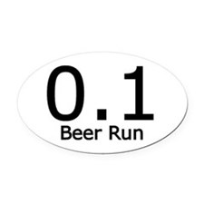 0.1 Beer Run Oval Car Magnet