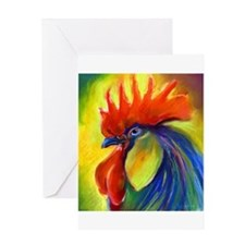 Unique Birds rooster Greeting Card