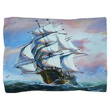 Sail Ship Painting Pillow Sham