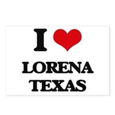 I love Lorena Texas Postcards (Package of 8)