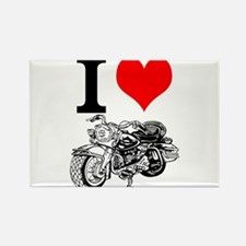 I Love Motorcycles Magnets
