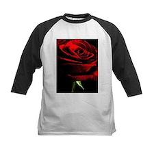 Red Rose of Love on Black Velvet Baseball Jersey