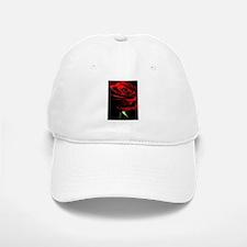 Red Rose of Love on Black Velvet Baseball Baseball Cap