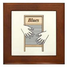 Washboard Blues Playing Framed Tile
