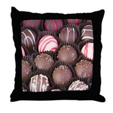 Chocolate Truffles Throw Pillow