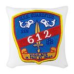 USS GUARDFISH Woven Throw Pillow